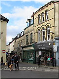 SP0202 : Walking the dog in the centre of Cirencester by Jaggery