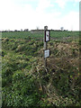 TM1084 : Footpath sign off Common Road by Adrian Cable