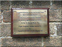 TF6103 : Memorial plaque for two World War Two pilots awarded the V.C. by Adrian S Pye