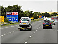 SE2912 : Northbound M1, Sign for Woolley Edge Service Area by David Dixon