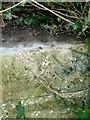 SK9202 : Rivet bench mark, railway bridge, North Luffenham by Alan Murray-Rust