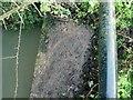 SK9203 : Rivet bench mark, culvert, Lyndon Road, North Luffenham by Alan Murray-Rust