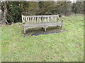 TM2166 : Seat at Bedfield and Monk Soham sports field by Adrian Cable