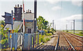 NU0445 : Goswick station (remains), 2002 by Ben Brooksbank