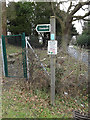 TM3569 : Footpath sign by Adrian Cable