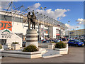 SK3735 : Derby County FC, The iPro Stadium and Clough-Taylor Statue by David Dixon