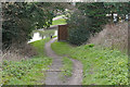 TQ0051 : Path to Stoke Lock near Guildford by Alan Hunt