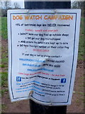 SO4841 : Notice for dog-walkers by Jonathan Billinger