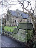 SD2806 : St Luke's church and churchyard by John S Turner