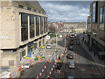 NT2574 : Contraflow on Leith Street by M J Richardson