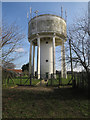 TG1236 : Water tower, Baconsthorpe by Hugh Venables