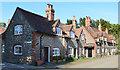 SU7886 : Brick and flint cottages, Hambleden, Buckinghamshire by Oswald Bertram