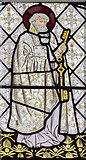 SK8354 : Detail of east window, All Saints' church, Coddington by J.Hannan-Briggs