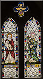 SK8354 : Stained glass window, All Saints' church, Coddington by Julian P Guffogg