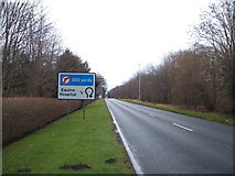 TL6061 : A1303 heading north east near Egerton Lodge by JThomas