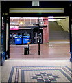 ST3088 : Strangely located notice in Newport Arcade, Newport by Jaggery