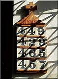 SK1750 : Hymn board, St Edmund's Church, Fenny Bentley by Neil Theasby