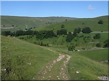 SD9772 : Bridleway above Dowber Gill Beck by Graham Robson