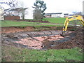 SP3079 : Digging a pond by the brook by E Gammie