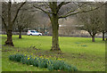 SK2374 : Grassed area at Calver by Trevor Littlewood