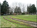 TQ1186 : Track layout, southern end, Roxbourne Railway by Christine Johnstone