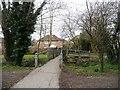 TQ1186 : Footbridge over Yeading Brook by Christine Johnstone