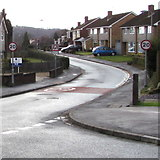 ST3091 : Start of the 20 zone, Wavell Drive, Malpas, Newport by Jaggery