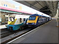 SS6593 : Two trains, Swansea railway station by Jaggery