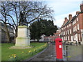 SO8554 : Monument genuine; post box not by Basher Eyre
