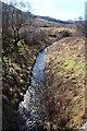 NS0683 : Glen Tarsan Burn emerges from the dam by Alan Reid