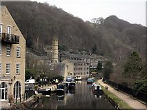 SD9927 : The Rochdale Canal at Hebden Bridge by Steve Whalley