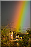SS9712 : Tiverton : Rainbow over Blundell's School by Lewis Clarke
