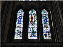 SO8554 : Worcester Cathedral: stained glass window (XXV) by Basher Eyre