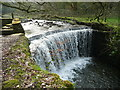 SE0321 : Weir on Lumb Clough by Humphrey Bolton
