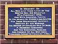 SD6614 : Winter Hill Air Disaster Plaque by David Dixon