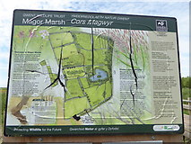 ST4286 : Wildlife Trust Information Board at Magor Marsh by Eirian Evans