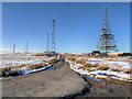 SD6614 : Communications Masts at the top of Winter Hill by David Dixon