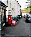 ST3490 : King George VI pillarbox, High Street, Caerleon by Jaggery