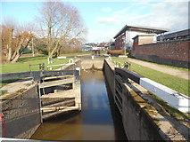 SO8453 : Diglis Bottom Lock in Worcester by David Hillas