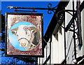 ST3490 : Ye Olde Bull name sign, High Street, Caerleon by Jaggery