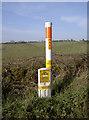 ST6665 : Gas pipeline marker by Neil Owen