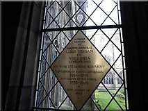 SO8554 : Worcester Cathedral: memorial (68) by Basher Eyre