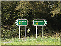TM3968 : Roadsigns on the A12 Brook Street by Adrian Cable