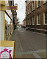 SO8454 : Copenhagen Street, Worcester, the day before Mothers Day by Robin Stott
