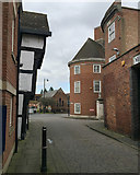SO8454 : Corner of the former fire station, Worcester by Robin Stott
