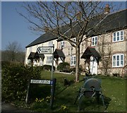 ST6601 : Intriguing sign for Cork in Cerne Abbas by Becky Williamson