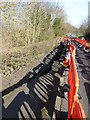 NY9663 : Landslip on the A695 by Oliver Dixon