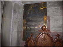 SO8554 : Worcester Cathedral: memorial (115) by Basher Eyre