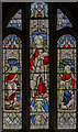 SS3102 : Stained glass window, St Swithin's church, Pyworthy by Julian P Guffogg