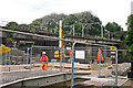 NY3857 : Engineering works at Eden Viaduct by Rose and Trev Clough